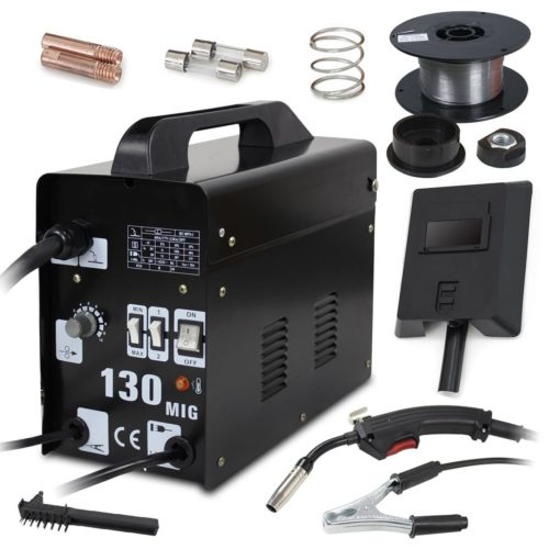 Super Deal Black Commercial MIG 130 AC Flux Core Wire Automatic Feed Welder