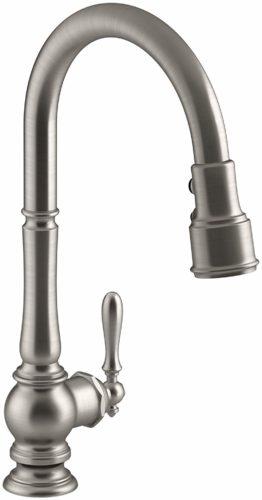 Kohler K-99259-VS Artifacts Single-Hole Kitchen Sink Faucet – Best Kitchen Faucet