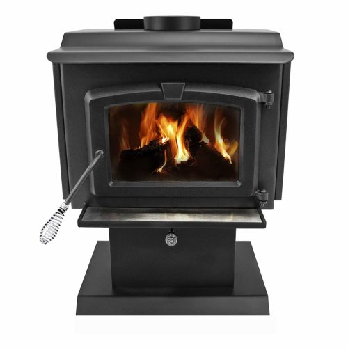 Pleasant Hearth 1,200 Square Feet Wood Burning Stove- best option for heating water or tea