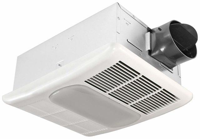 Delta BreezRadiance RAD80L Bath Fan, Light & Heater