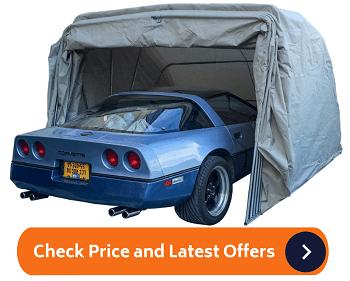 Ikuby Super Sturdy Heavy Duty Portable Lockable Carport