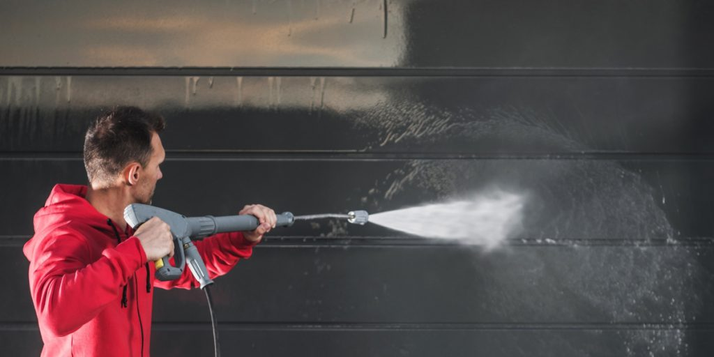 Siding with a pressure washer homemade detergent